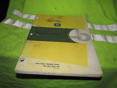 John Deere 3 6 8 9 Series Rotary Cutters Manual Technical Book Tm 1394 Mowers