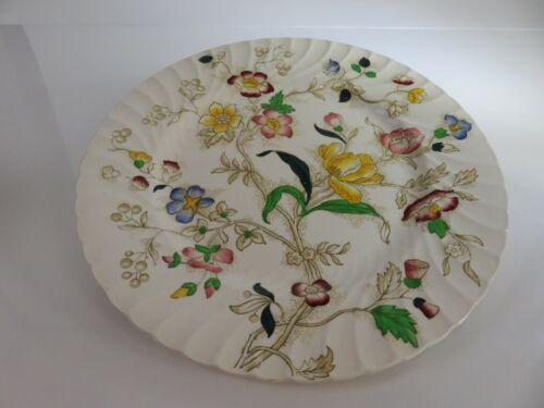 Dorchester Burleigh Ware Burgess & Leigh Jacobean Floral Pattern Dinner Plate
