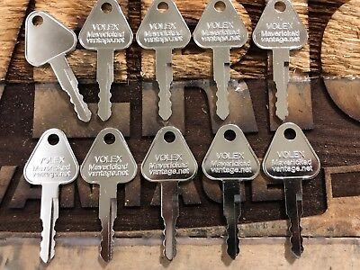 10 Keys For Volvo Samsung Excavator Ignition Key 14529178 7773