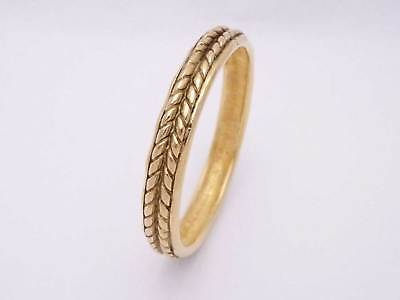 Auth CHANEL Rope Designed Bangle Bracelet Goldtone Metal - e35189