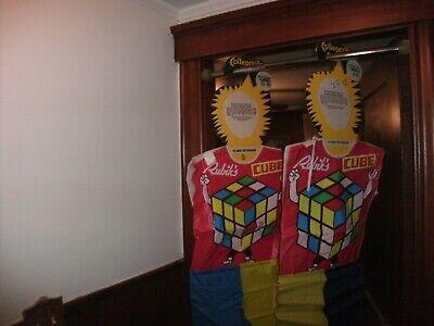 1982 Rubiks cube Vintage Halloween costume collegeville costume size large 12-14