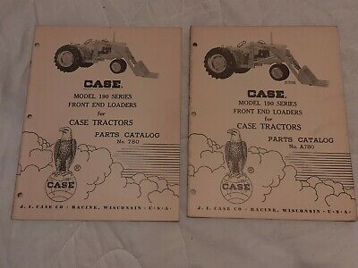 2 1959 Manual Case 190 Series Front End Loaders Parts Catalog A780 780 Tractor