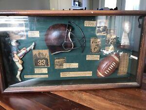 Football framed collectors piec