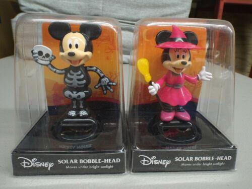 Disney Solar Bobblehead Mickey Mouse / Minnie Mouse Set