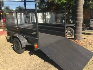 8x5 High Side Box Trailer   600 mm cage and Ramp on Road $1990 Smithfield Parramatta Area Preview