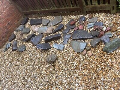 rockery stones. Mainly Blue Welsh Slate