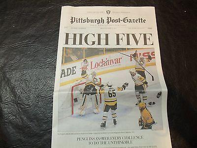 2017 Stanley Cup Newspaper Pittsburgh Post Gazette  Pens   Predators