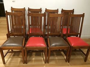 Solid Timber Dining chairs (Set of 8) Pagewood Botany Bay Area Preview