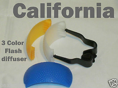 3 color PopUp Flash Bounce Diffuser Cover kit For Canon Nikon Pentax Olympus