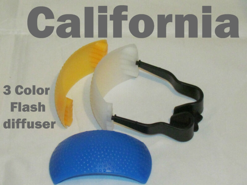3 color Pop-Up Flash Bounce Diffuser Cover kit For Canon Nikon Pentax Olympus
