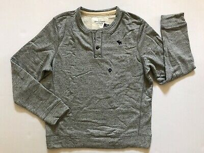 NWT Abercrombie & Fitch Men's Sweatshirt Henley Light Grey Size XL, XXL