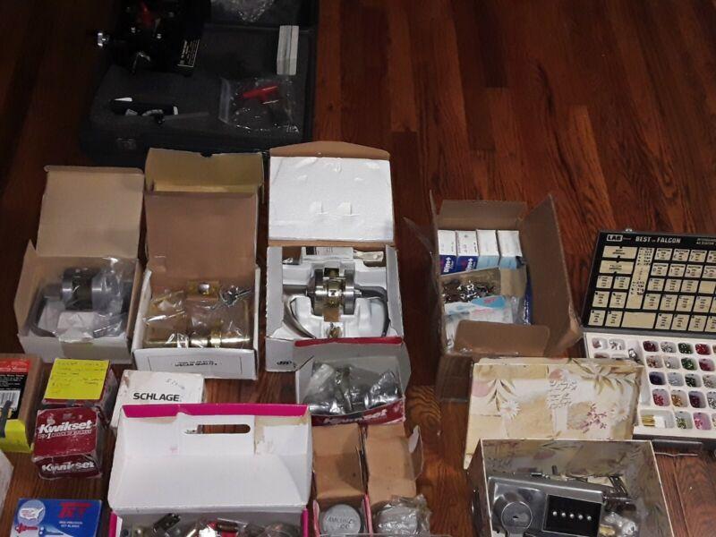 Locksmith equipment.locks,cyl, Punch machine,  keys & a little bit of everything