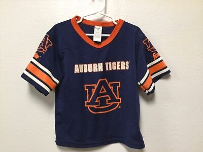 Boy Girl Sport Jersey Shirt Size Small Blue Orange Aubrn Tigers Franklin -