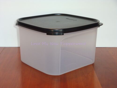 Tupperware Modular Mates 11-Cup Square #2 Container & Seal in Black New