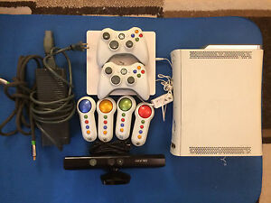 XBOX 360 with Kinect, Accessories, and Games
