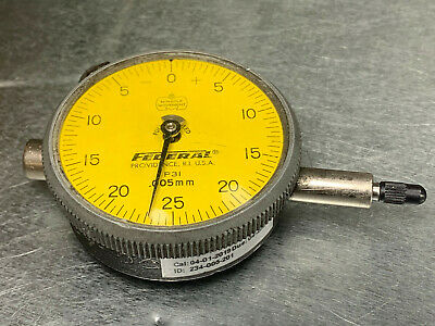 Federal P3i Dial Indicator .005mm Resolution Full Jeweled Metric