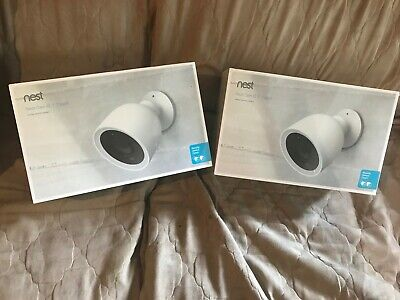 Nest NC4200US Cam IQ Outdoor Smart Wi-Fi Security Camera - 2 Pack --BRAND NEW!!