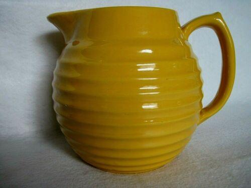 Vintage Bauer (?) Ringware Pitcher Mustard Yellow