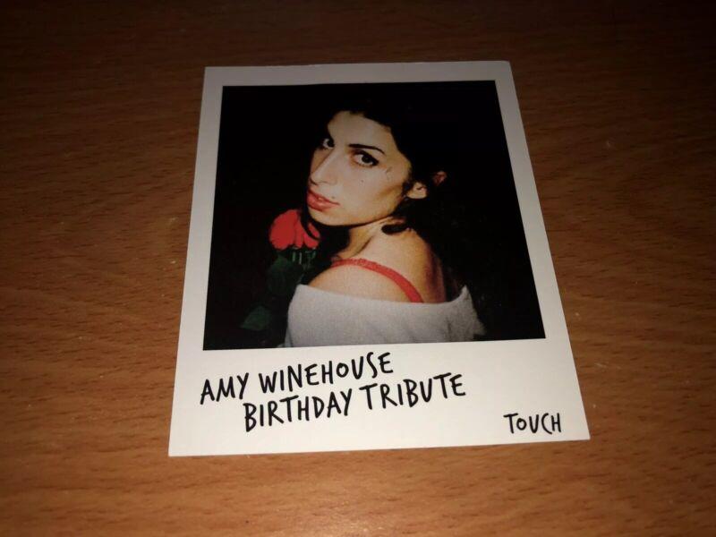 Amy Winehouse Birthday Tribute Polaroid-style Promo Card Cleveland 2019
