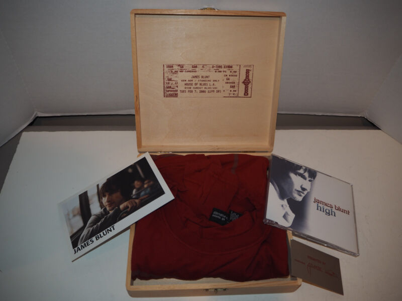 James Blunt House of Blues box set - shirt, CD, concert ticket ~~~LE VERY RARE