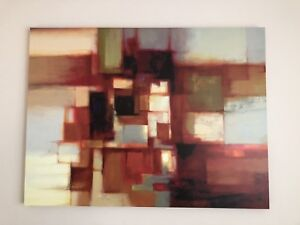 Modern abstract wall art reproduction