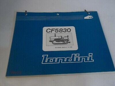 Landini Cf5830 Dozercrawler Parts Book