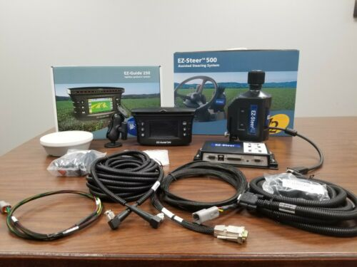 TRIMBLE EZ Guide 250 Display w/ Ag15 Antenna & EZ Steer Steering System