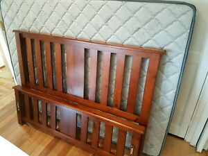 Double Bed with Mattress Near New