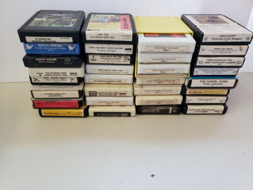 Christian-Gospel 8-track tape lot- lot of 31