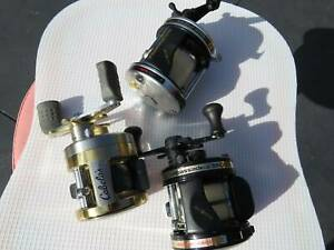 Fishing reels Abu 6500C Abu 5600C & a Cabelas chucked in.