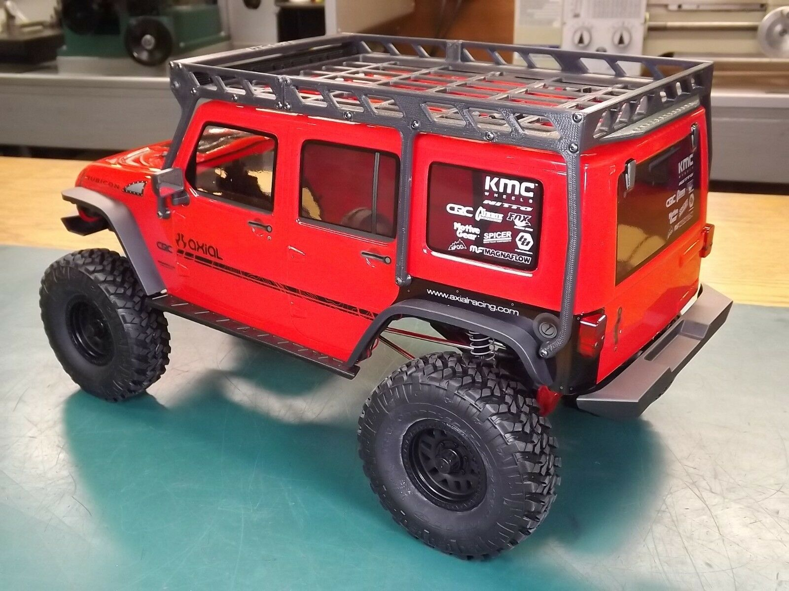 Rcdm Roof Rack For The Axial 2017 Jeep Wrangler Un In Mainan Mobil Remote Strong Cars Metalic Unlimited Crc Rtr Scx10 Ii