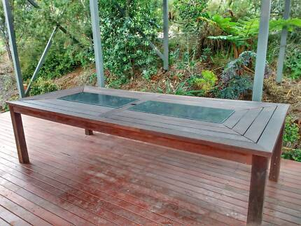 Timber Table With Granite Inlay + 10 Chairs (cost Over $1200) Part 27
