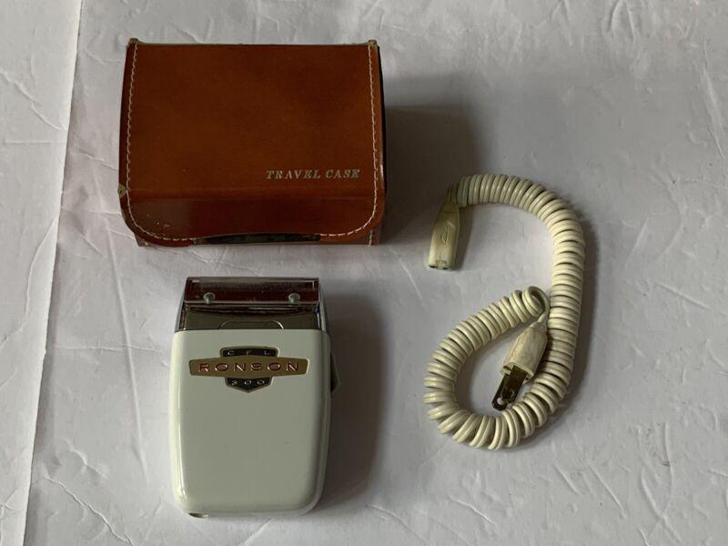 Vintage 1962 Original RONSON CFL 300 BIG DADDY Electric RAZOR SHAVER With Case