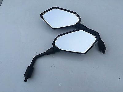 PAIR OF BLACK ANGLE MIRRORS TRIUMPH TIGER 800 2011 E MARKED IN STOCK
