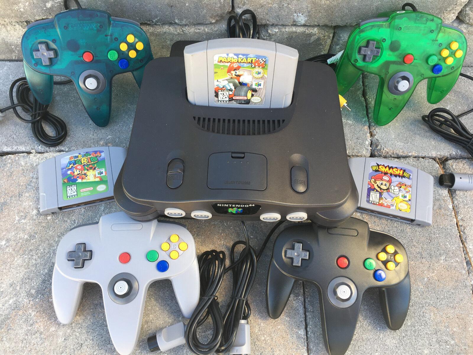 Купить Nintendo (Console) TTX (Controllers) - N64 NINTENDO 64 CONSOLE + CONTROLLERS + BONUS OFFER- SUPER MARIO KART SMASH BROS