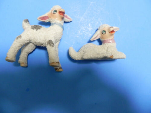 Vintage Anthropomorphic Easter Lamb Set