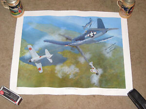 Pappy-Boyington-signed-autographed-poster-from-air-show