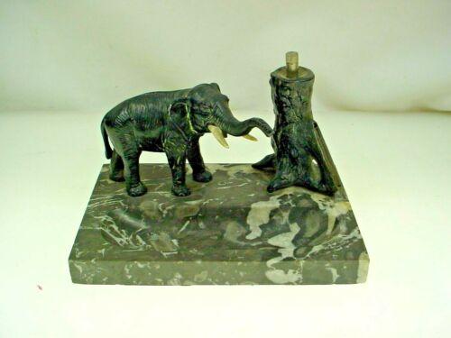 VINTAGE AUSTRIAN FLINT STRIKER ELEPHANT TABLE CIGARETTE LIGHTER