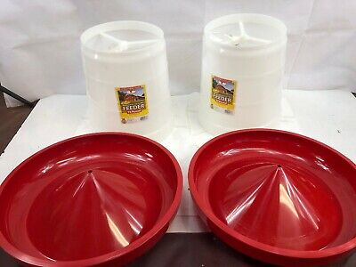 Little Giant Hanging Feeder For Poultry Phf22 By Miller Mfg Co - Lot Of 2