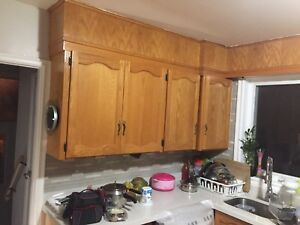 Kitchen cabinet with quartz counter top, sink for sale