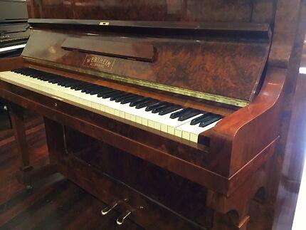 Refurbished Wertheim 'Gold Scroll' Piano - Delivery & 12Yr Warranty