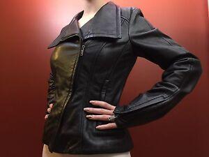 Genuine Leather Danier Biker Jacket XS