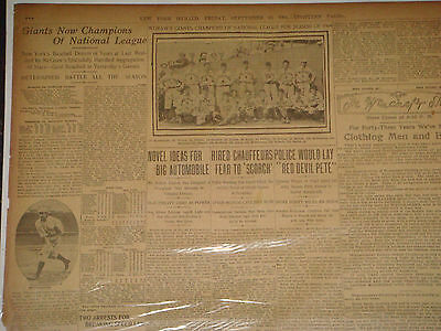 Original 1904 New York Herald Newspaper New York Giants National League Champs