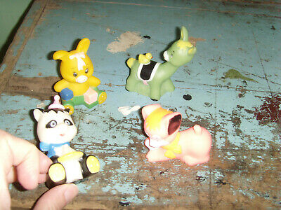 Vintage rubber bath dolly toy pink dog baby bunny donkey panda animal lot pets](Rubber Donkey Toy)