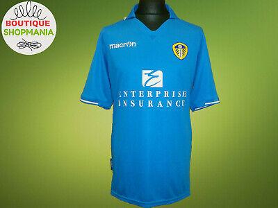Ex LEEDS UNITED Third 2013-2014 XL MACRON Soccer FOOTBALL SHIRT Jersey Camisa image
