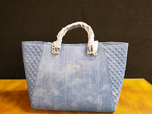 GUESS  DEN NIKKI CHAIN TOTE tote bag DENIM RRP 199 Sydney City Inner Sydney Preview