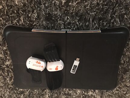 Black Wii Fit with USB Active wrist band barely used.