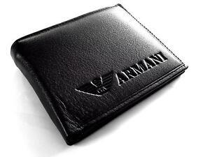 bdd2661d0d36 Mens Leather Armani Wallets