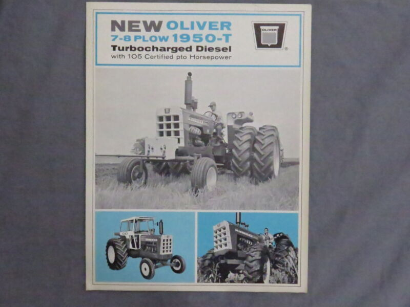 Vintage 1967 Oliver 1950-T Tractor Sales Brochure Farm Catalog RARE!