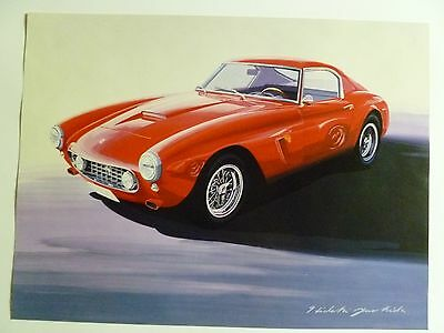 1957 Ferrari 250 Berlinetta Coupe Print, Picture, Poster RARE!! Awesome L@@K